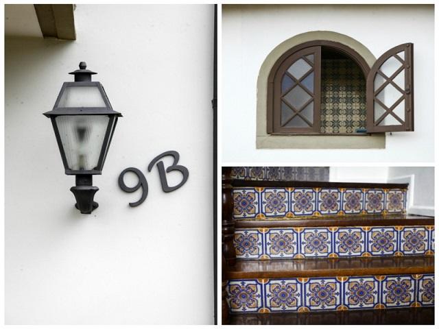 Luminaria e azulejos Portugueses