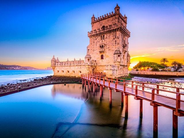 Torre de Belem em Lisboa cidade mais Cool da europa