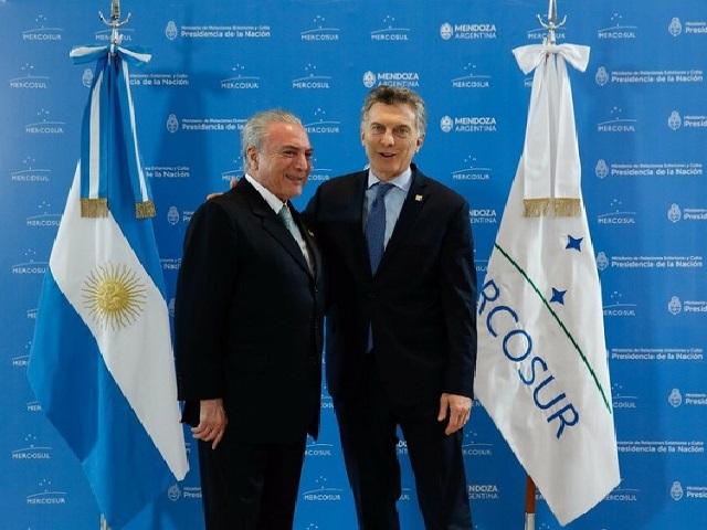 Encontro de Temer Brasil e Macri Argentina