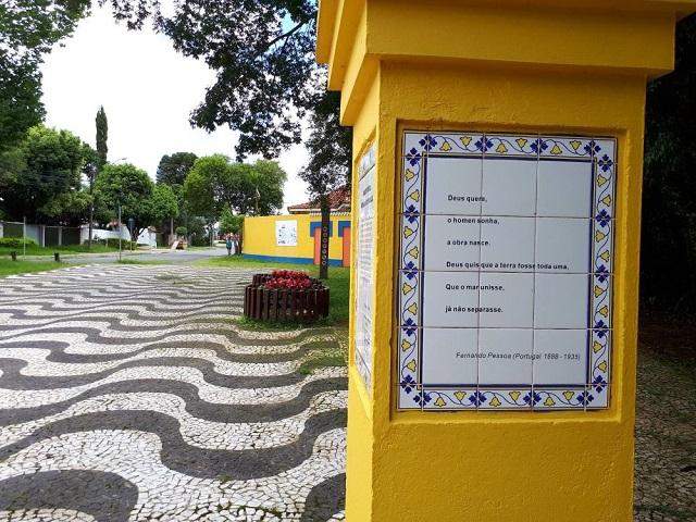 Bosque de Portugal - Trilha com poema de Fernando Pessoa