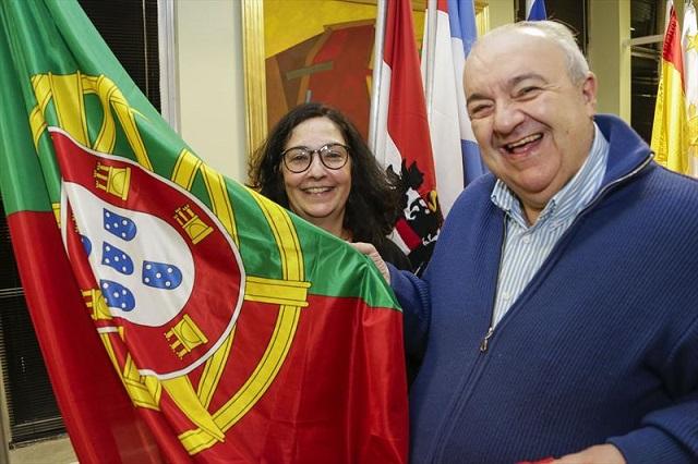 Prefeito Rafael Greca e a consul de Portugal Susana Pereira