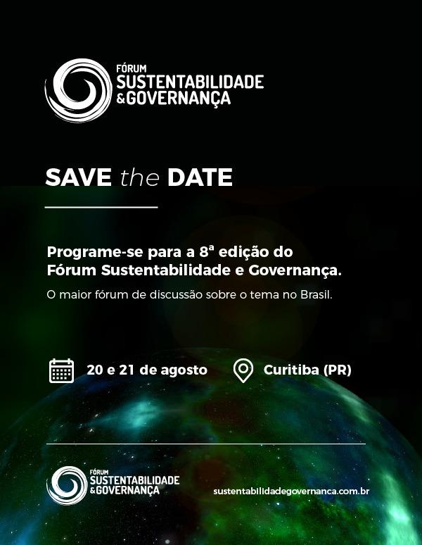Savethedate_Forum Sustentabilidade e governanca