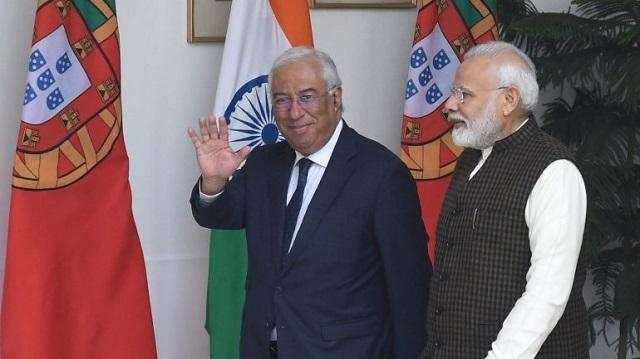 Primeiros-ministros António Costa e Narendra Modi