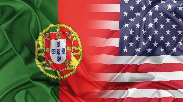 Portugal e EUA bandeiras